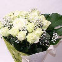 çiçekçi Bursa nilüfer hediye çiçek yolla  11 adet sade beyaz gül buketi