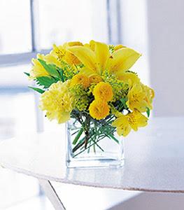 online Bursa ucuz çiçek gönder  sarinin sihri cam içinde görsel sade çiçekler