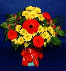 online Bursa ucuz çiçek gönder  sade hos orta boy karisik demet çiçek