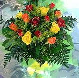 13 adet karisik gül buketi demeti   Bursa inegöl çiçek servisi , çiçekçi adresleri