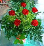 6 adet kirmizi gül buketi   Bursa ya çiçek yolla mudanya cicek , cicekci