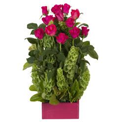 12 adet kirmizi gül aranjmani  cicekci Bursa inegöl çiçek mağazası , çiçekçi adresleri