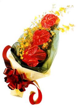 özel 5 adet antorium buketi   çiçek siparişi Bursa karacabey çiçek yolla