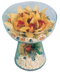 Bursa çiçek gönder nilüfer çiçek siparişi vermek  Cam içerisinde 4 adet kandil orkide