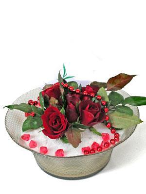 çiçek Bursa yenişehir çiçekçi mağazası  EN ÇOK Sevenlere 7 adet kirmizi gül mika yada cam tanzim
