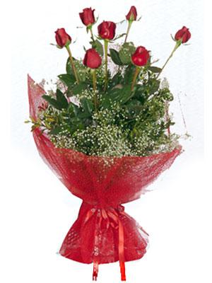 çiçek siparişiBursa mustafa kemal paşa çiçek siparişi sitesi  7 adet gülden buket görsel sik sadelik