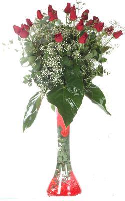 Bursa inegöl çiçek servisi , çiçekçi adresleri  19 ADET GÜL VE FIL CAM AYAGI