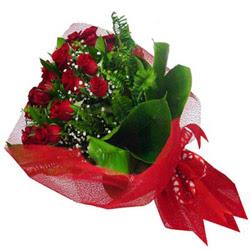 çiçek siparişi Bursa nilüfer anneler günü çiçek yolla  12 adet kirmizi essiz gül buketi - SEVENE ÖZEL