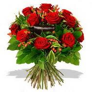 9 adet kirmizi gül ve kir çiçekleri  Bursa osmangazi internetten çiçek satışı