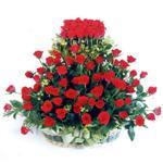 çiçek siparişi Bursa nilüfer anneler günü çiçek yolla  41 adet kirmizi gülden sepet tanzimi