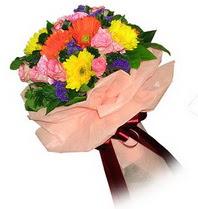 Bursa orhangazi internetten çiçek siparişi  Karisik mevsim çiçeklerinden demet