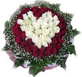 cicekci Bursa inegöl çiçek mağazası , çiçekçi adresleri  27 adet kirmizi ve beyaz gül sepet içinde