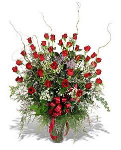 Bursa çiçek gönder nilüfer çiçek siparişi vermek  33 adet kirmizi gül vazo içerisinde