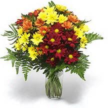 Bursa çiçek gönder nilüfer çiçek siparişi vermek  Karisik çiçeklerden mevsim vazosu