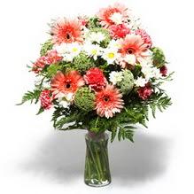 çiçek yolla Bursa orhaneli çiçekçiler  cam yada mika vazo içerisinde karisik demet çiçegi