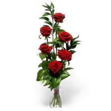 Bursa inegöl çiçek servisi , çiçekçi adresleri  mika yada cam vazoda 6 adet essiz gül