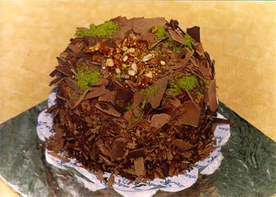 Çikolatali 4 ila 6 kisilik yas pasta  çiçek siparişi Bursa karacabey çiçek yolla