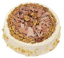 Karamelli 4 ile 6 kisilik yas pasta  Bursa çiçek yolla nilüfer çiçek gönderme
