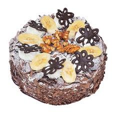 Muzlu çikolatali yas pasta 4 ile 6 kisilik   Bursa inegöl çiçek servisi , çiçekçi adresleri