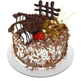4 ile 6 kisilik çikolatali yas pasta  çiçek siparişi Bursa nilüfer anneler günü çiçek yolla