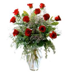 Vazo içerisinde 11 kirmizi gül  çiçek Bursa yenişehir çiçekçi mağazası