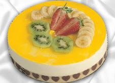 pasta gönderme 4 ile 6 kisilik yas pasta muzlu yaspasta  cicekci Bursa inegöl çiçek mağazası , çiçekçi adresleri