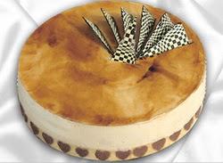 taze pasta 4 ile 6 kisilik yas pasta karamelli yaspasta  çiçek yolla Bursa orhaneli çiçekçiler
