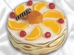 lezzetli pasta satisi 4 ile 6 kisilik yas pasta portakalli pasta  Bursa orhangazi internetten çiçek siparişi