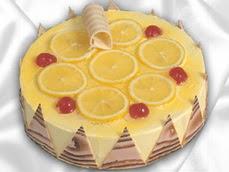 taze pastaci 4 ile 6 kisilik yas pasta limonlu yaspasta  Bursa ya çiçek yolla mudanya cicek , cicekci