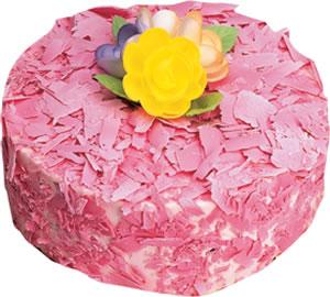 pasta siparisi 4 ile 6 kisilik framboazli yas pasta  Bursa çiçek yolla nilüfer çiçek gönderme
