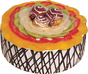 pasta siparisi 4 ile 6 kisilik meyvali yas pasta  Bursaya çiçek yolla orhangazi çiçek satışı