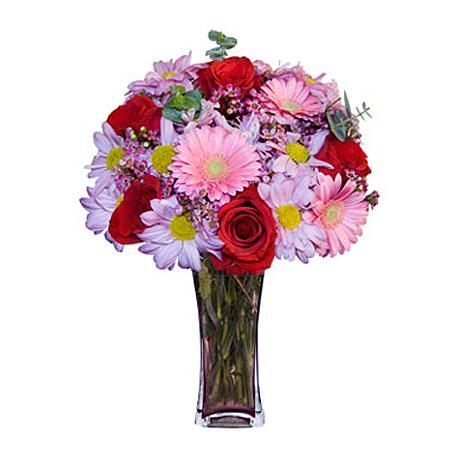 Görsel hediye karisik cam mevsim demeti  Bursa orhangazi internetten çiçek siparişi