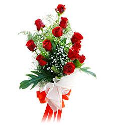 11 adet kirmizi güllerden görsel sölen buket  çiçek Bursa yenişehir çiçekçi mağazası