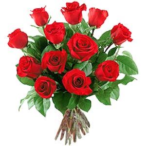 11 adet bakara kirmizi gül buketi  Bursa iznik hediye sevgilime hediye çiçek