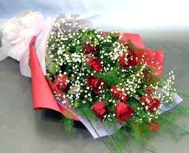 10 adet kirmizi gül çiçegi gönder  Bursa osmangazi online çiçekçi , çiçek siparişi