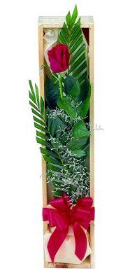 1 adet kutuda kirmizi gül  çiçek siparişi Bursa karacabey çiçek yolla