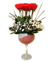 çiçek yolla Bursa orhaneli çiçekçiler  cam kadeh içinde 7 adet kirmizi gül çiçek