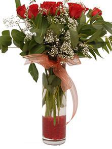 Bursa inegöl çiçek servisi , çiçekçi adresleri  11 adet kirmizi gül vazo çiçegi