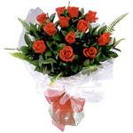 Bursada çiçekçi osmangazi çiçek , çiçekçi , çiçekçilik  9 adet güzel bir gül buketi