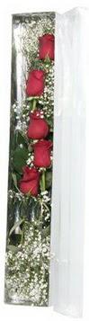 Bursa çiçek gönder nilüfer çiçek siparişi vermek   5 adet gülden kutu güller
