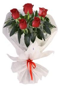 5 adet kirmizi gül buketi  çiçek yolla Bursa orhaneli çiçekçiler