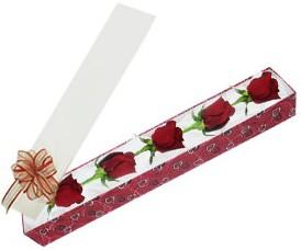 Bursa osmangazi internetten çiçek satışı  kutu içerisinde 5 adet kirmizi gül