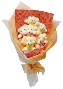 12 adet ayiciktan buket  Bursa çiçek gönder nilüfer çiçek siparişi vermek