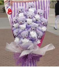 11 adet pelus ayicik buketi  çiçek siparişi Bursa karacabey çiçek yolla