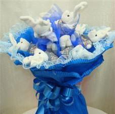 7 adet pelus ayicik buketi  Bursada çiçekçi osmangazi çiçek , çiçekçi , çiçekçilik