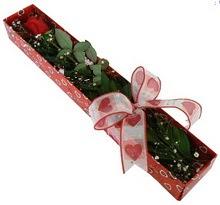 Tek kirmizi gül kutu içerisinde  Bursa iznik hediye sevgilime hediye çiçek