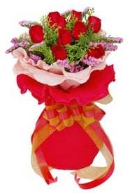Bursa çiçek gönderimi nilüfer cicekciler , cicek siparisi  8 Adet kirmizi güllerden buket tanzimi