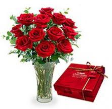 Bursa orhangazi internetten çiçek siparişi  10 adet cam yada mika vazoda gül çikolata
