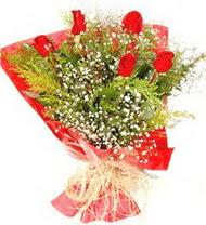 Bursa osmangazi online çiçekçi , çiçek siparişi  5 adet kirmizi gül buketi demeti