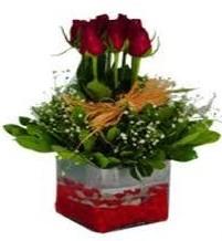 Bursa çiçek nilüfer İnternetten çiçek siparişi  7 adet mika yada cam vazoda gül tanzimi